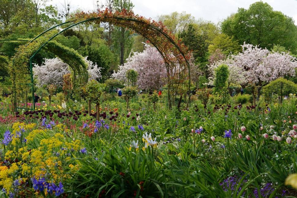 сад клода моне живерни франция фото фотоаппарата время