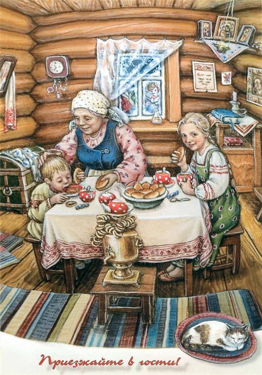 Бабушка в деревне картинка