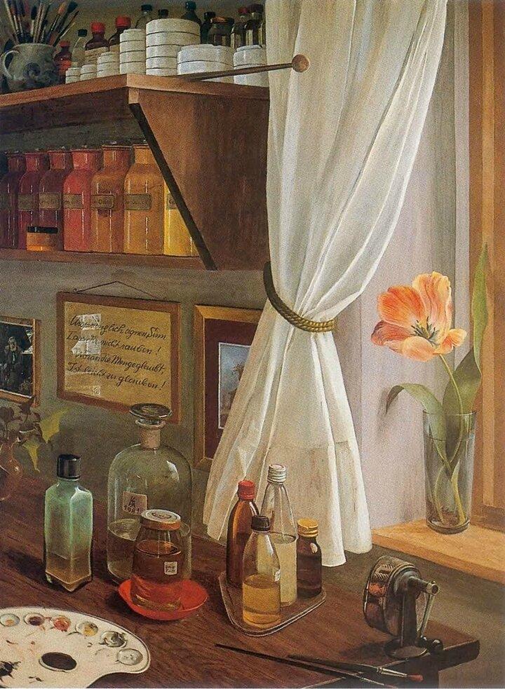 Stephen Darbishire 1940 British Interiors and Landscape painter Tutt Art 9