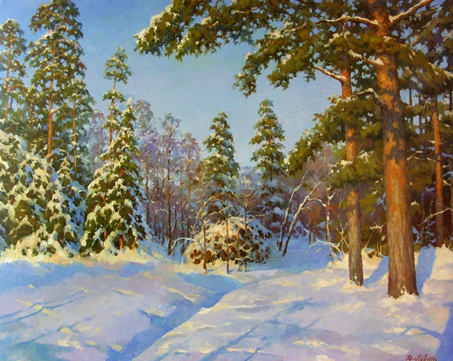 The nature of Russia in the paintings of Dmitry Levin 24