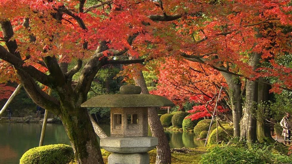Один из красивейших парков Японии. Сад Кэнроку-эн