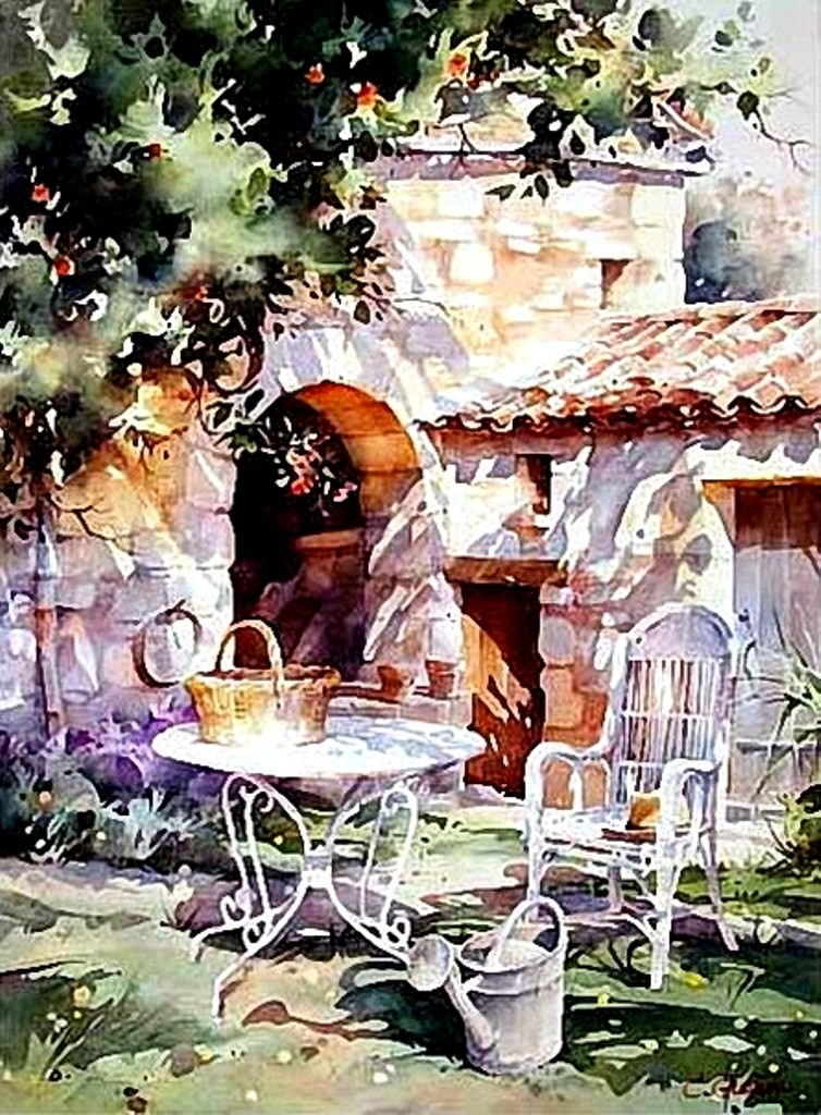 Если в душе солнце.. Французский художник Кристиан Гранью (Christian Graniou).