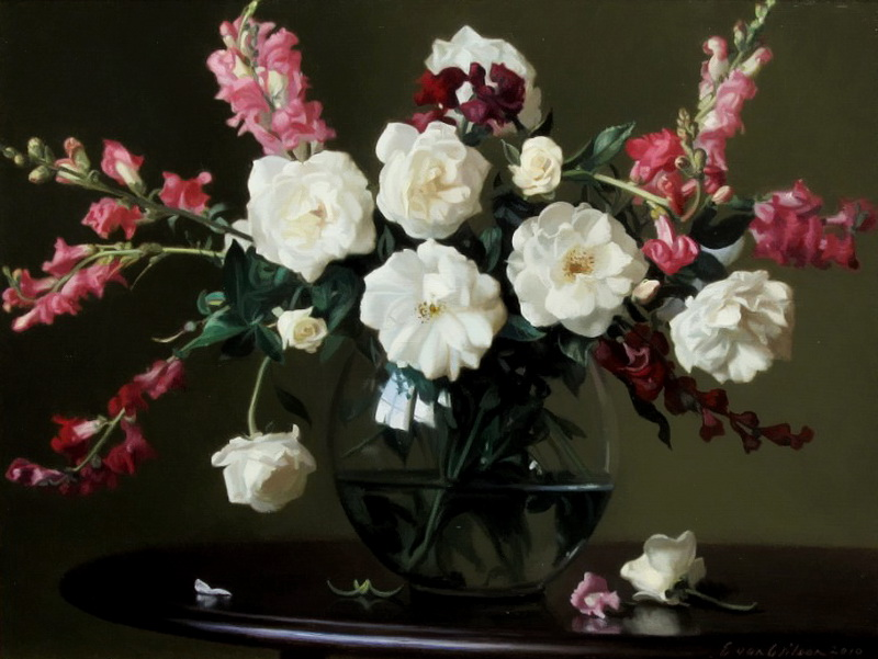 Американский художник Evan Wilson. Вдыхая нежный аромат..